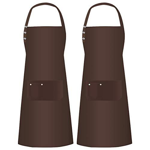 2 Piezas Delantal Cocina Con 3 Bolsillos Hombres Mujeres