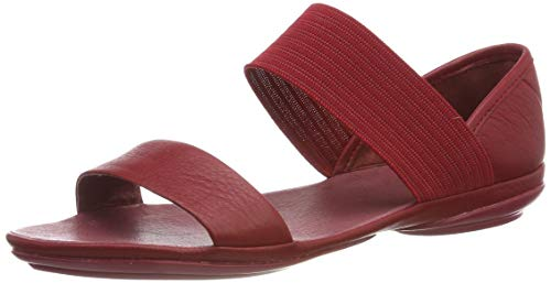 CAMPER Damen Right Nina Peeptoe Sandalen, Rot (Medium Red 610), 42 EU - Schuhe Frauen Camper Für