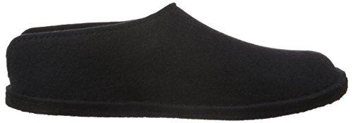 Schwarz Unisex 311013 Pantoffel schwarz Erwachsene Smily Haflinger 03 EvqXU