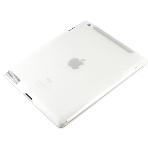kwmobile Hülle für Apple iPad 2 / 3 / 4 - Smartcover Kompatibles Backcover Case Tablet Schutzhülle TPU Silikon - Tabletcase Cover Weiß Apple Ipad 2 Silikon