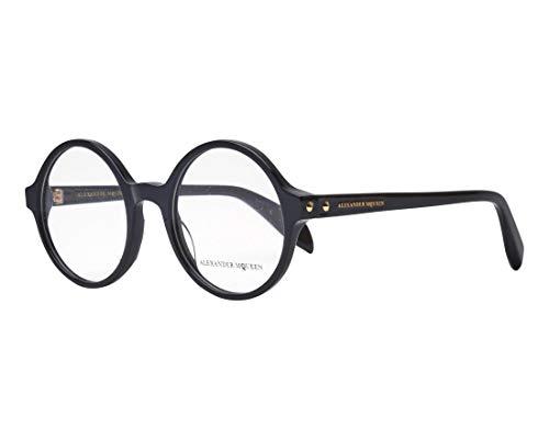 Alexander McQueen Brille (AM-0133-O 001) Acetate Kunststoff glänzend schwarz - Alexander Mcqueen-brille