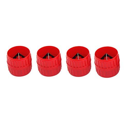 4 Stück Außenrohr aus Metall Handwerkzeug für die Mauerwerk, schwerer Kunststoff PP rot für alle