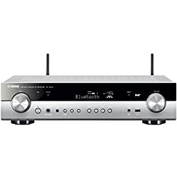 Yamaha RX-S602 MC AV-Receiver (Slimline Netzwerk-Receiver mit kraftvollem 5.1 Surround-Sound - für packendes Home Entertainment - Music Cast und Alexa kompatibel) titan