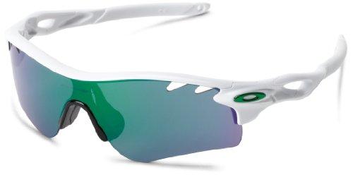 Oakley Herren Radarlock Path Sonnenbrille, Weiß (White/Jade Iridium), 38