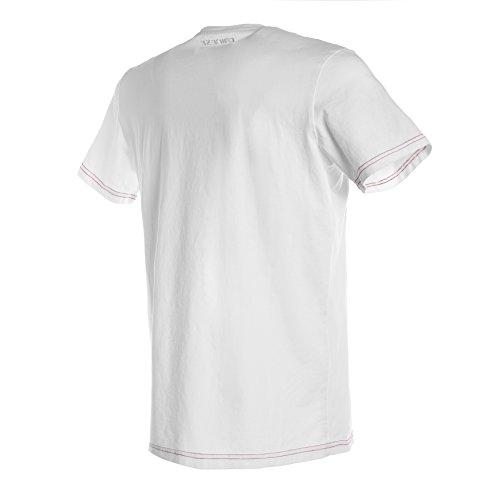 Dainese 1896744_602_JL Camiseta, BlancoRojo, JL