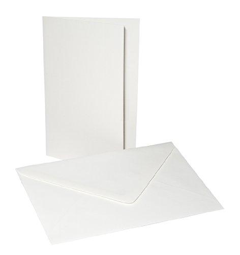 Faltkarten Set B6 mit Umschlag, Weiß