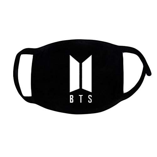 Chenguld Kpop BTS Fans Mundmaske Unisex Muffle Atemschutzmaske Baumwolle Buchstaben Print Soft