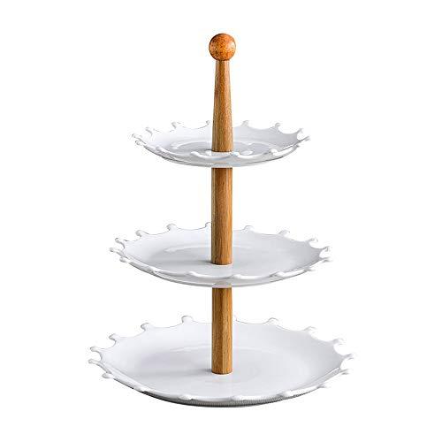 ller Kuchen Snack Teller Kreative DREI-Schicht Obstteller Hochzeitstorte Display Ständer ()