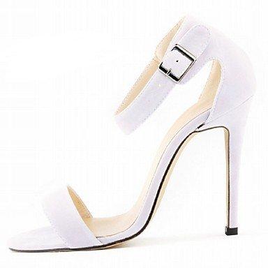 zhENfu Scarpe donna tessuto Stiletto Heel tacchi sandali parte & sera abito / / CasualBlack / blu / giallo / il verde / viola White