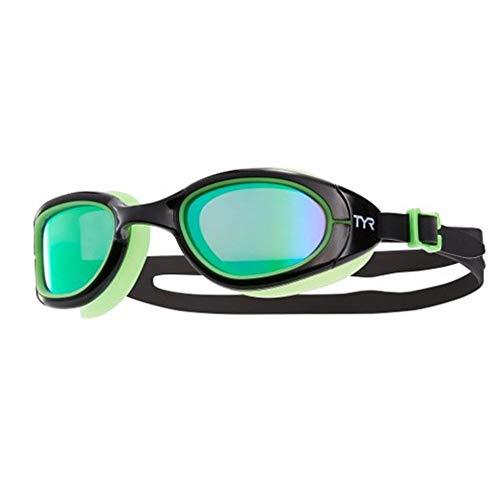 TYR Special Ops 2.0Polarized Gafas de Carreras/Rendimiento, Unisex, Color Black/Green/Fluo-Green, tamaño n/a