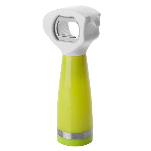 IBILI 739002Dosenöffner/Korkenzieher/Flaschenöffner 3in1Edelstahl/Kunststoff Silber/grün/weiß 18x 8x 5cm