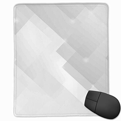 Preisvergleich Produktbild Mouse Mat Stitched Edges,  Abstract Soft Tones Featured Perspective Stripes Reflection Rays Artisan Artwork Print, Gaming Mouse Pad Non-Slip Rubber Base