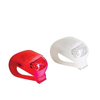 Stonges LED Clip-On Silicon Band Bicycle Lights 2 Pack White & Red