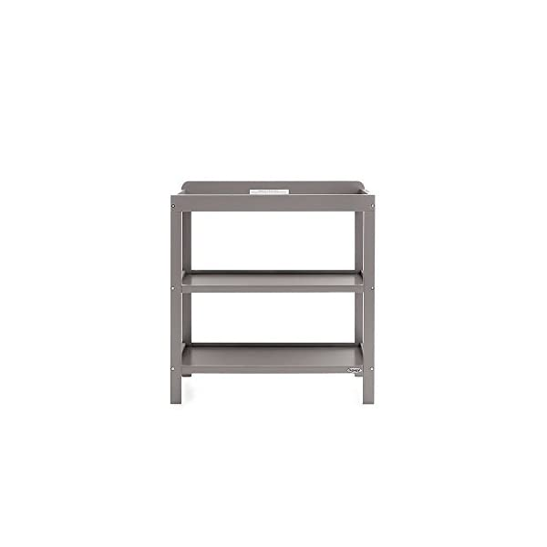 Obaby Grace 3 Piece Nursery Furniture Set - Taupe Grey Obaby 3 mattress base heights, protective teething rails included and split end panels for conversion to a toddler bed Changing unit has 2 generous open shelves for storage Wardrobe includes a large cupboard with 2 internal hanging rails and 2 deep drawers 3