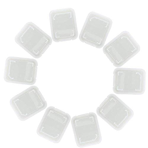 "SYGA 10 Pieces Memory Card Plastic Storage Case for SD MMC/SDHC PRO Duo (Memory Card not Included) (1.9"" x 1.5"" x 0.3"")"