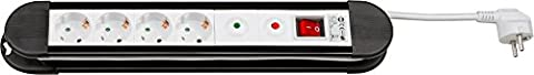 Wentronic Steckerdosenleiste Überspannungsschutz (4x Schuko Kindersicherung) 1,4 m