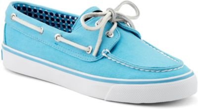 Sperry Athletic Sneakers (Sperry Bahama Turquoise Canvas Bootsschuhe Segelschuhe Sneaker Damen (39,5))