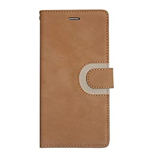 Alza International Ultra-Thin Fully Protective Suede Matt Cover Case for Apple iPhone 7 Plus/iPhone 8 Plus - Tan Colour