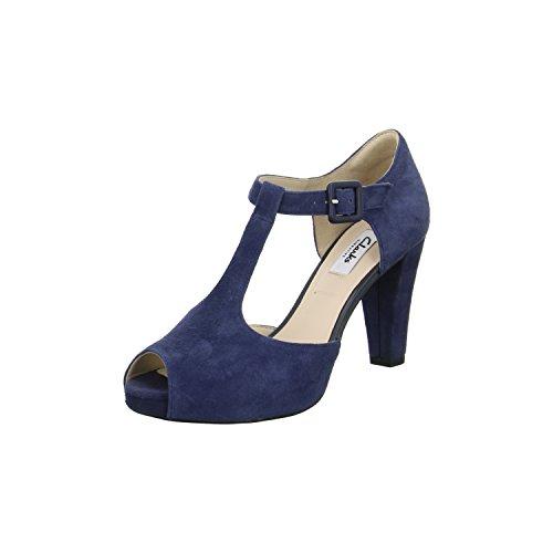 Clarks KENDRA FLOWER Damen Sandaletten Größe 37.5 Blau (Blau)