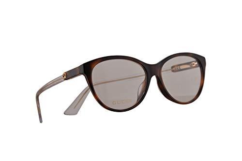 Gucci GG0486OA Brillen 55-15-150 Havana Braun Mit Demonstrationsgläsern 003 GG 0486OA