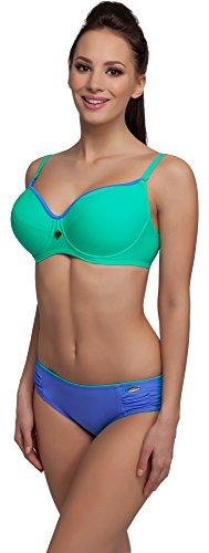 aQuarilla Damen Bikini Set R3N2LL1 (Mint/Dunkelblau, Cup 75 E/Unterteil 40) Cup-form-mint