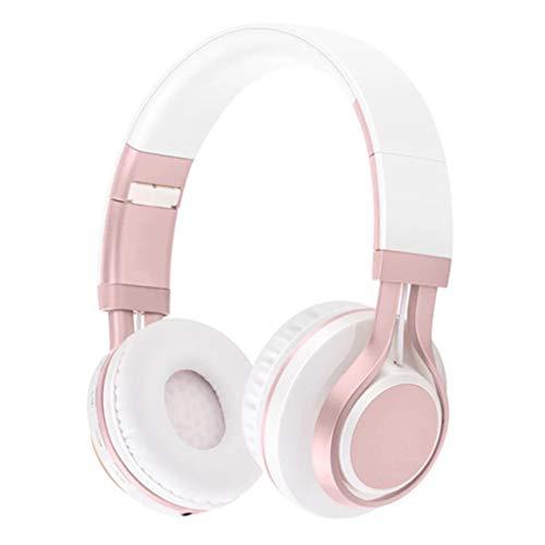 Noise Isolation Drahtloses Faltbarer Sport-headsets, Bluetooth-verbindung Lightweight Surround Stereo Musik Headsets-rosa Rosa Bluetooth Headset