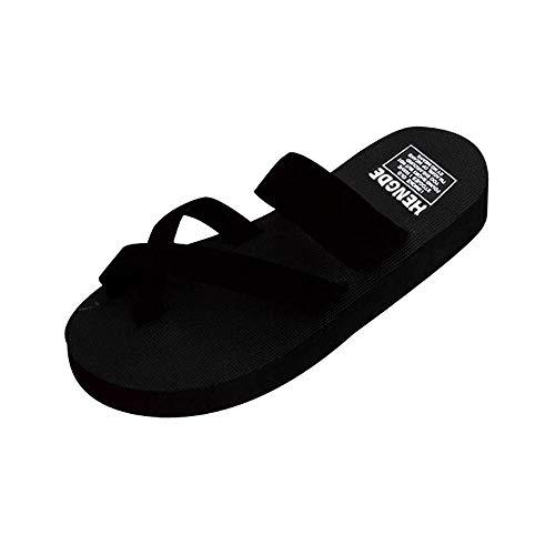 iHENGH 2019 Nuovo Scarpe Moda Casual Estivo Donna Infradito Donna Flip Flop Casual Pantofole Sandali Piatti Beach Open Toe Shoes Fashion Spiaggia Summer