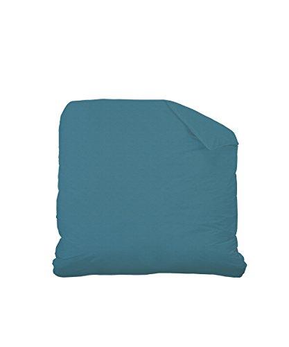 Matt & Rose 044343 Housse de couette Coton Mélange/Métis de lin Bleu Canard 240 x 260 cm