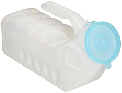 2 Pc 32 oz Deluxe Male Urinal Glow in the Dark Lid Medline Incontinence Pee Bottle by 2020 Co.