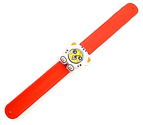 en Uhr Slap Armband Silikon Tiger Weiss-orange ()