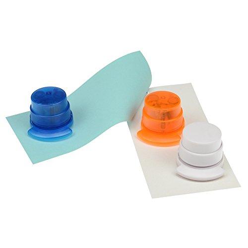 bind klammerloser Hefter ORIGAMI Papiertacker ohne Klammern Falttechnik orange 70522-4 - 4