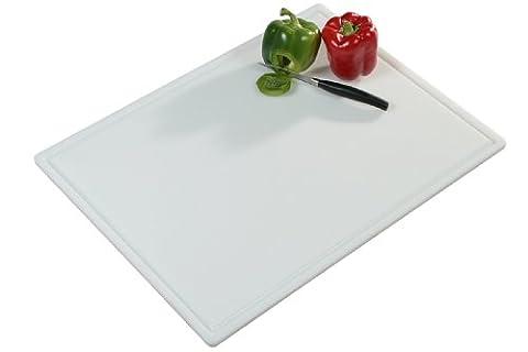 Kesper 30061 Planche à découper en plastique 61 x 45 x 1.2 cm Blanc