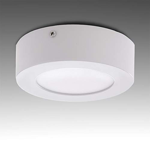 Greenice | Plafón LED Circular Superficie Ø120Mm 6W 470Lm 30.000H | Blanco...