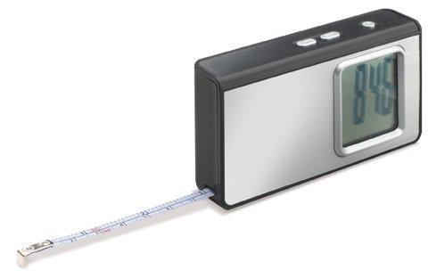 REFLECTS 4-in-1 LED Taschenlampe aus Taschenrechner, Uhr mit Wecker, Taschenlampe und Maßband NAMBOUR