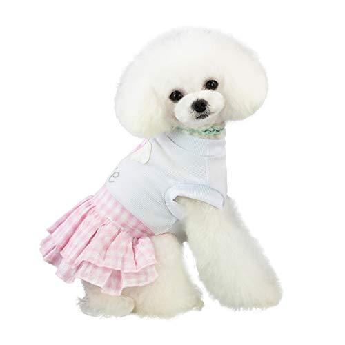 Lomsarsh Neue Hund Kleid Frühling und Sommer Liebe Herz Print Rock Kostüme Weste Liebe Rock Mode Schutz Niedlich Und Einstellbare Kleidung -