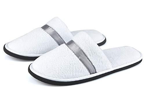 Hogar amo 2 coppie unisex pantofole da casa per spa, guest, hotel e viaggi, lavabile e non usa e getta, uomini e donne scarpe da casa facilmente portatile