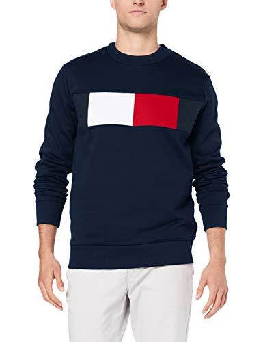 Fashion Herren Pullover (Tommy Hilfiger Herren Flag Chest Logo Sweatshirt, Blau (Sky Captain 403), Medium (Herstellergröße: M))