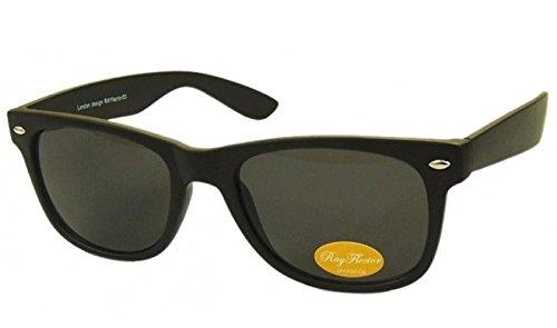 Matt Schwarz Retro Fashion Designer Geek Nerd NHS Big Rave Party Brille groß Wayfarer Hot (Medium Größe)