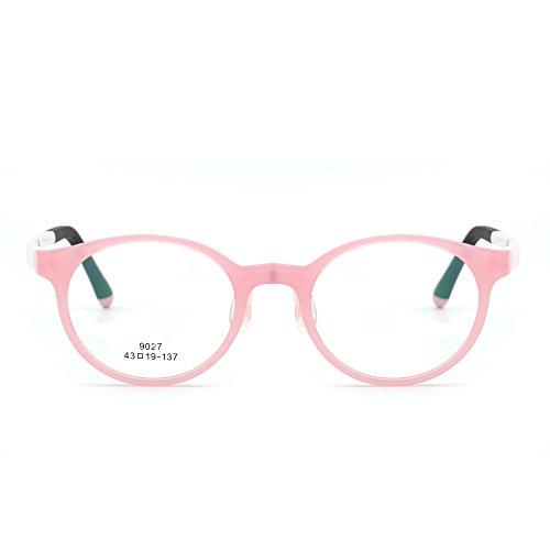 JIM HALO Kinder Rund Brillen Optisch TR Rahmen Mädchen Jungen Nicht Verschreibung Klar...