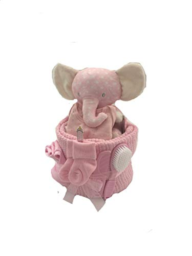 Bebé niña Elefante-tarta de pañales para bebé regalo bebé ducha