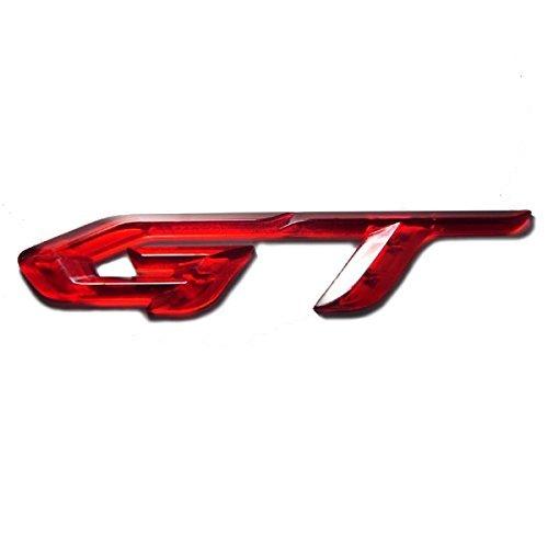 detailpart GT 3D Klar Rot Typ Emblem Aufkleber für alle Auto