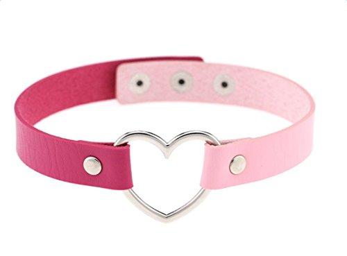 Cdet Damen Halskette Halsband Zwischen Farbe PU-Leder Herzförmig Ornamente Halskette Legierung...