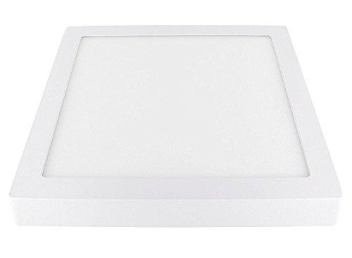 Preisvergleich Produktbild Ultraslim LED Aufbau Panel 230V - Aluminium-Druckguss - 28W 1960lm - 300x300x40mm - warmweiß (3000 K)