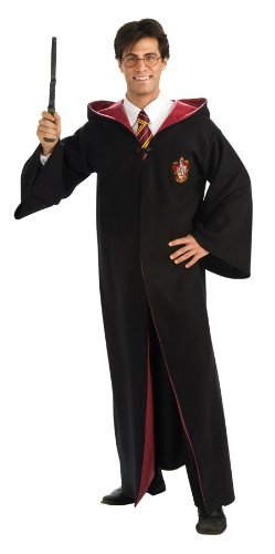 Deluxe Harry Potter Robe Adults Fancy Dress Book Week Mens Ladies Costume Outfit (Deluxe Black Potter Harry Robe)
