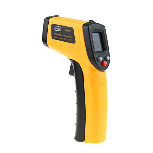 Digitale Infrarot-Thermometer-Laser-Temperatur Gun, Nicht Kontakt Einstellbare Emissivität Temperaturfühler für Kochen/Luft/Kühlschrank/Gefrierschrank -
