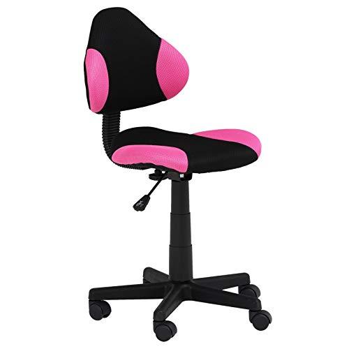 IDIMEX Kinderdrehstuhl Alondra Schreibtischstuhl Drehstuhl Kind Kinderschreibtischstuhl schwarz/pink