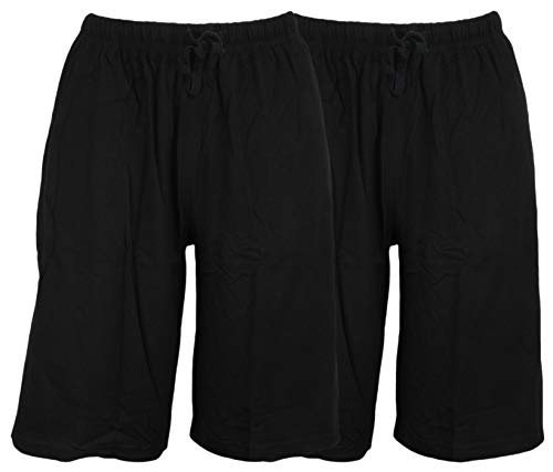 Tom Franks Twin Pack Baumwolle Jersey Lounge Shorts Gr. XX-Large, Black Black - Lounge Shorts