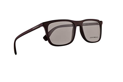 Emporio Armani EA3110 Eyeglasses 55-18-145 Bordeaux Black w/Clear Demo Lens 5601 EA 3110