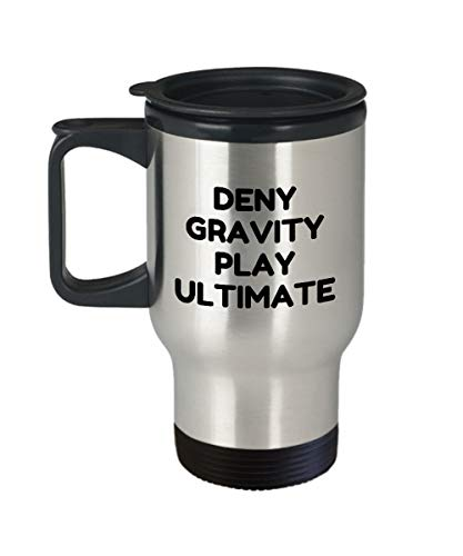Alicert5II Ultimate Frisbee Travel Mug Ultimative Frisbee-Spieler-Geschenkidee Lustiges Frisbee-Geschenk Deny Gravity Play Ultimate Ultimate Travel Mug