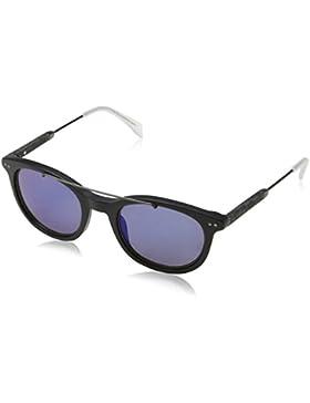 Tommy Hilfiger Unisex-Erwachsene Sonnenbrille TH 1348/S XT, Schwarz (Bkrut Bkwood), 49